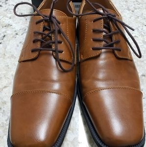 Like NEW Alfani Brown Dress Shoes